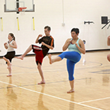 People exercising in Urec gym.