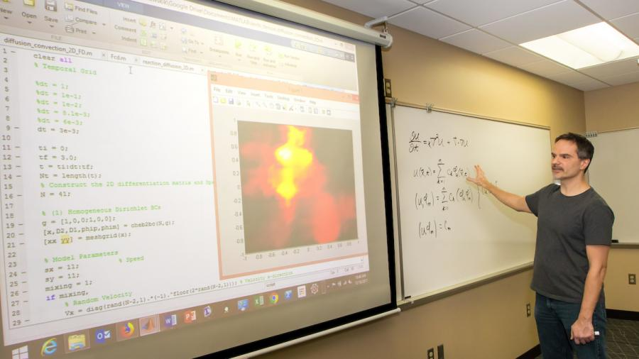 UW-Stout Professor Keith Wojciechowski Records Lecture for Online Students in P.S.M. Industrial and Applied Mathematics